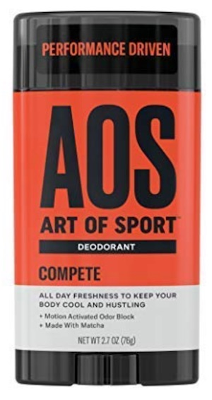 2.7 ounce stick of Art of Sport - best men's deodorant without aluminum. Compete scent.