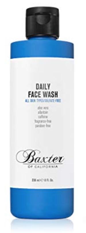 8oz bottle of baxter of california daily face wash for men - Best men's face wash for oily skin