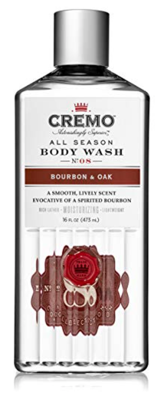 Bottle of Cremo all-season body wash for dry skin