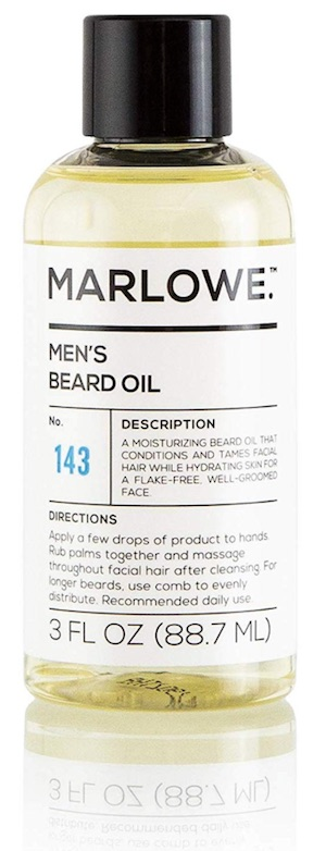 Bottle of Marlowe beard oil