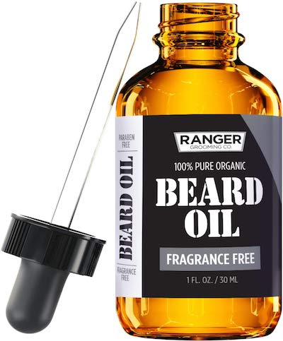 Bottle of Ranger beard oil - best beard oil for dry skin and dandruff