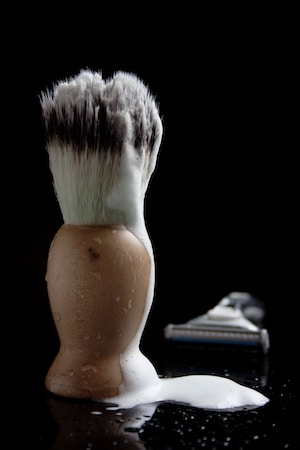 Shave brush with lather