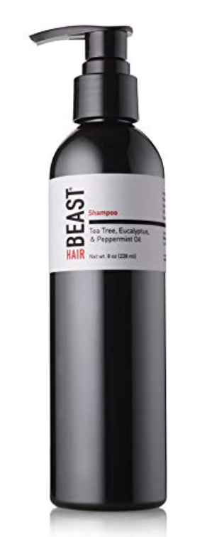 Bottle of Tame the Beast shampoo - best shampoo for men with long hair