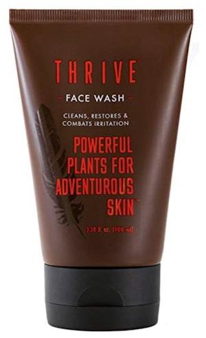 Bottle of Thrive men's face wash - best men's face wash for oily skin