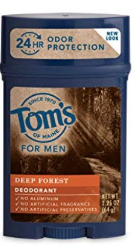 2.25 ounce stick of Tom's of Maine men's deodorant without aluminum. Deep forest scent.