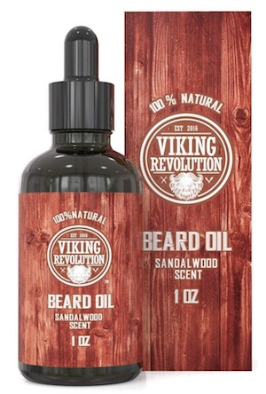 Bottle of Viking Revolution beard oil