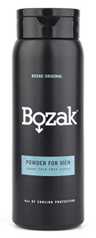Bottle of Bozak powder for sweaty and smelly feet