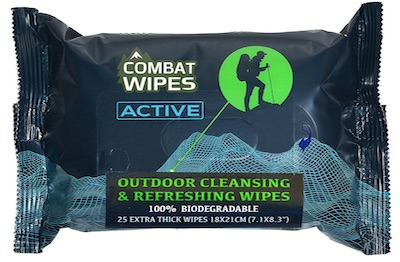 Pack of Combat Wipes - Outdoor body wipes for camping, hiking,backpacking
