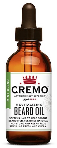 Bottle of Cremo beard oil for men - best beard oil for dry skin and dandruff