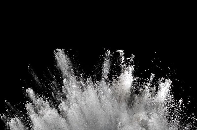 White powder explosion