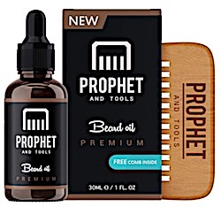 prophet and tools beard oil and comb - best beard oil for dry skin and dandruff