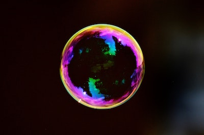 A soap bubble