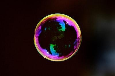 A soap bubble
