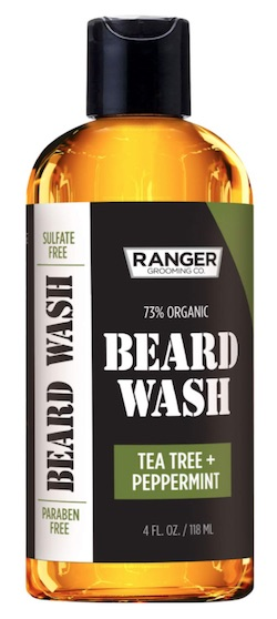 Bottle of Ranger beard wash - best beard wash and shampoo for dandruff