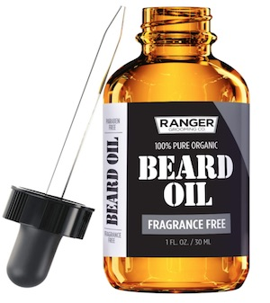 Bottle of Ranger beard oil - best unscented beard oil for men