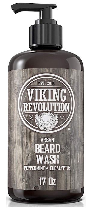 Bottle of Viking Revolution beard wash - best beard wash and shampoo for dandruff