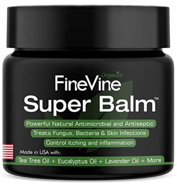 Jar of Finevine Organics Super Balm - Best powders, creams, and sprays for jock itch.