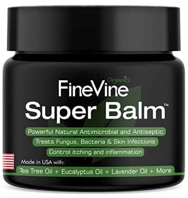 Jar of Finevine Organics Super Balm - Best powders, creams, and sprays for jock itch.