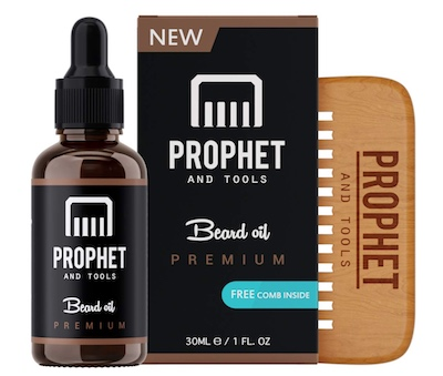 Bottle of Prophet and Tools beard oil - best unscented beard oil