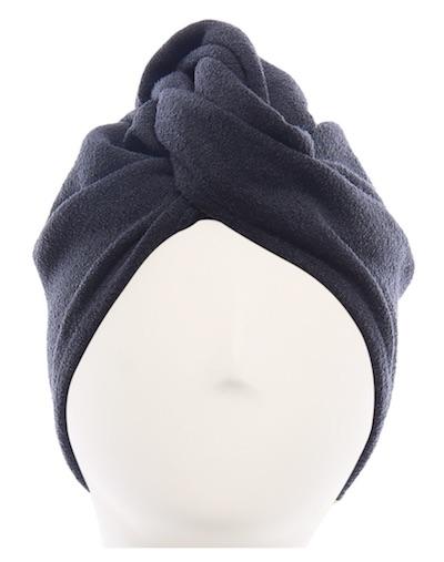 A black Aquis hair turban