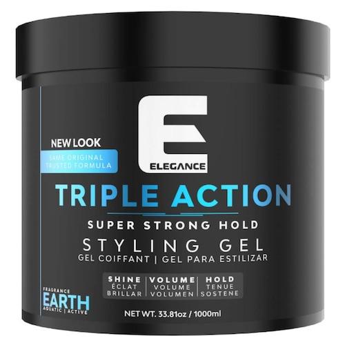 Jar of Elegance Triple Action gel - best strong hold hair gels for men