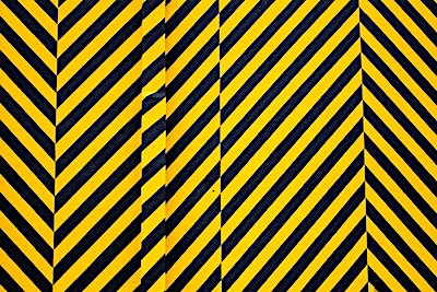 Black and yellow caution tape