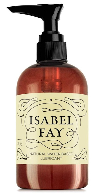 Pump bottle of Isabel Fay personal lube for sensitive skin