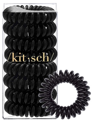 Package of Kitsch spiral hair ties - best hair ties for men