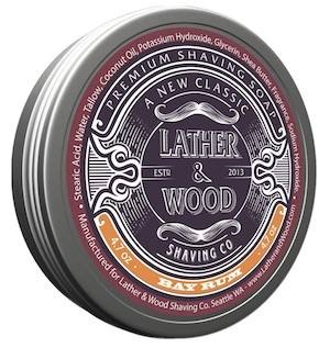 Tin of Lather & Wood shave soap - best smelling shave soaps for men