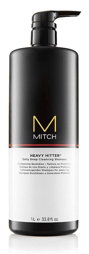 Bottle of Mitch Heavy Hitter shampoo - best smelling shampoos for men