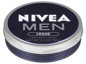 Tin of Nivea Men Creme body lotion - best smelling body lotion for men