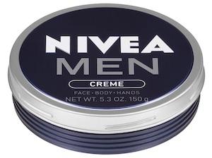 Tin of Nivea Men Creme body lotion - best smelling body lotion for men