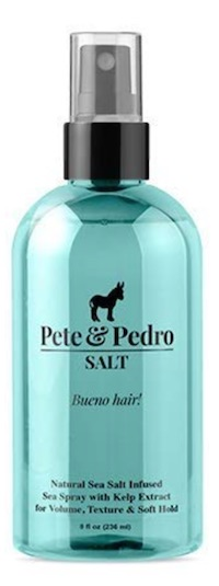 Spray bottle of Pete & Pedro Salt spray - best products for men with long hair