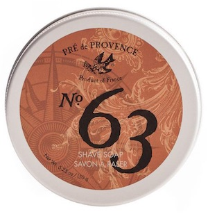 Tin of Pre de Provence shave soap - best smelling shave soap for men