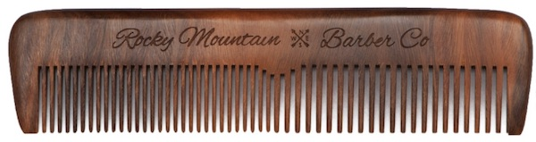Rocky Mountain Barber Company wooden hair comb