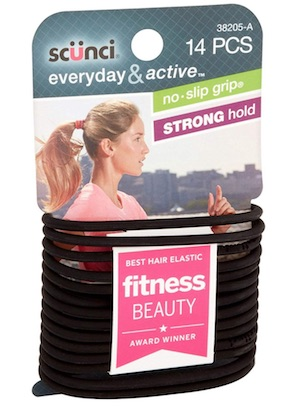 Package of Scunci Everyday & Active hair ties - best hair ties for men