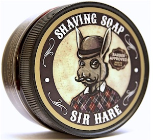 Jar of Sir Hare shave soap - best smelling shave soaps for men
