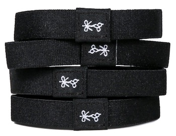 Stack of 4 black Hair Ties for Guys