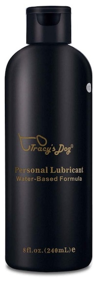 Bottle of Tracy's Dog personal lubricant for sensitive skin