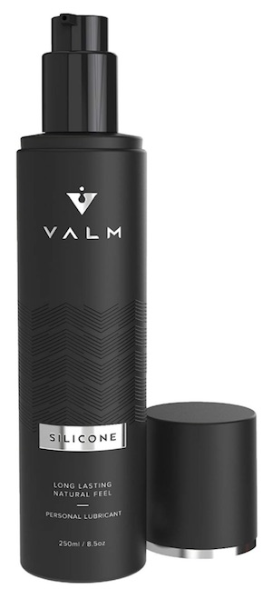 Bottle of Valm personal lube for sensitive skin