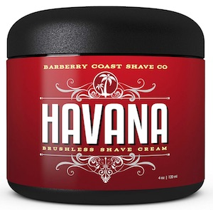 Jar of Barberry Coast Shave Co. Havana shaving cream - best smelling shaving cream for men.