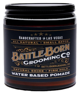 Jar of Battle Born Grooming Co. pomade