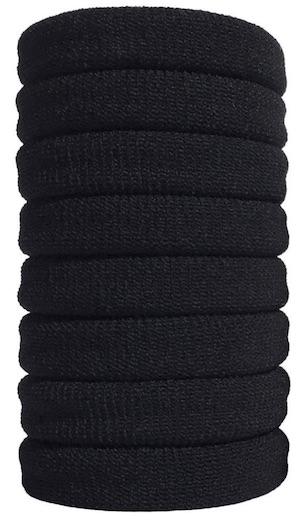 Stack of 8 Burlybands hair ties