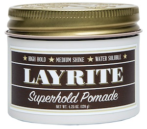 Jar of Layrite Superhold pomade