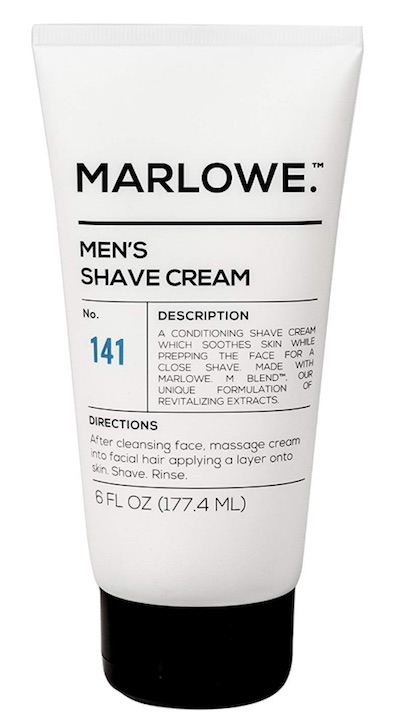 Tube of Marlowe No.141 shave cream for men