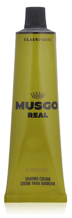 Tube of Musgo Real Classic Scent shaving cream for men