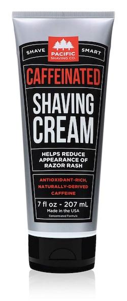 Tube of Pacific Shaving Company Caffeinated shaving cream - best natural shaving creams for men