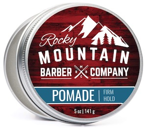 Tin of Rocky Mountain Barber Co. firm hold pomade