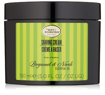 Jar of The Art of Shaving Bergamot & Neroli shaving cream - best smelling shaving creams for men.