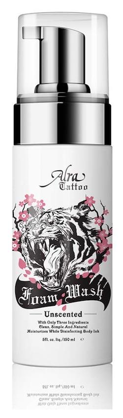 Bottle of Alra Tattoo Antibacterial Foam Wash